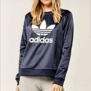 Adidas | Dark Navy Logo Shiny Pullover